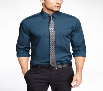 Long Sleeve Formal Shirts For Men-blue