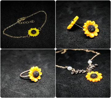Sunflower jewellery set