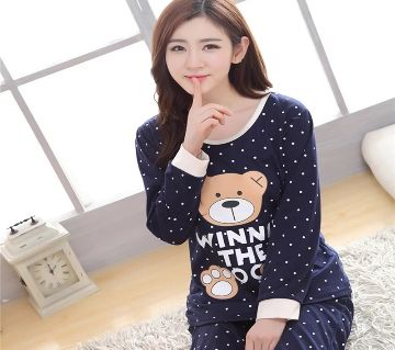 Long Sleeve Night Gown for Woman cartoon type baby bear with Pajamas (Type B).