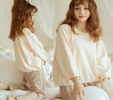Long Sleeve Night Gown for Woman cartoon type baby bear with Pajamas (Type C).