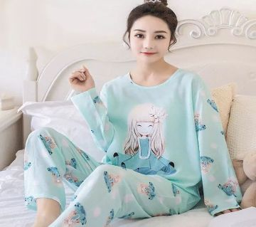Long Sleeve Night Gown for Woman cartoon type baby bear with Pajamas (Type E).