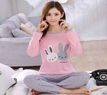 Long Sleeve Night Gown for Woman with Pajamas (Type K).