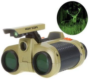 Night Scope Binoculars Telescope Pop-Up Light
