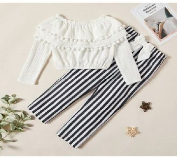 Baby Tops & Pant Set White