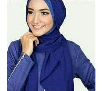 Diamond Georgette Hijab Dark Blue