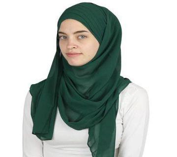 Diamond Georgette Hijab Green