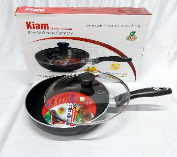 Kiam Non Stick Fry Pan With Glass Lid 26 Cm