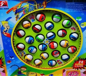 Fishing game toy  24 pcs 4 player large size multicolored
