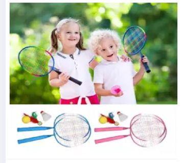 Kids Badminton Racket 2 Pcs Set - multicolor