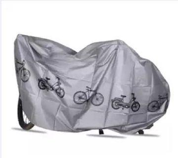 Waterproof Bicycle Outdoor Rain Dust Cover - Silver