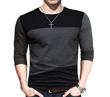 Full Sleeve T-Shirt for men-Ash Black