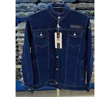 Full Sleeve Denim Casual JackeT for Men - Blue