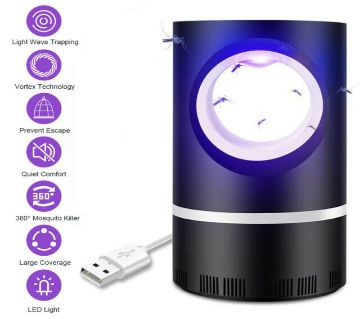 USB Powered Insect Killer Non-Toxic UV LED Mosquito Trap Lamp