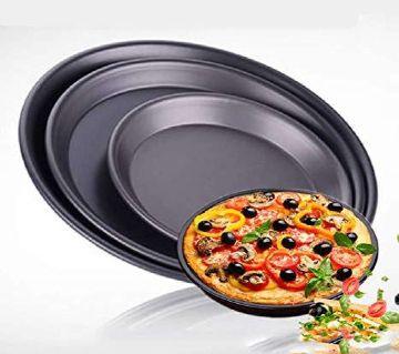 3 Pcs Pizza Pan Set - Black