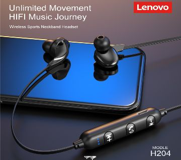 Lenovo H204 Magnetic Wireless Sport Bluetooth Earphone With Microphone