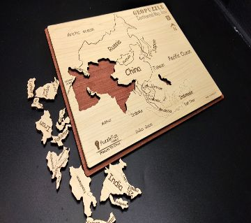 Continental Map Puzzle (Asia) (Non Magnetic)