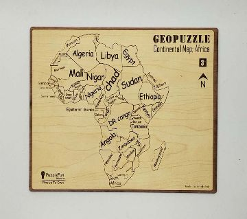 Continental Map Puzzle (Africa) (Non Magnetic)