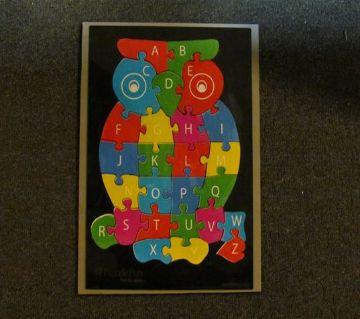 Owl alphabet puzzle