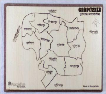 Sunamgonj Zilla Map