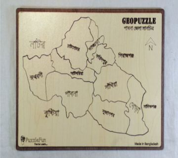 Pabna Zilla Map