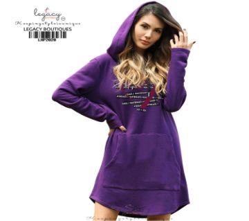 Ladies Premium Hoodie Purple