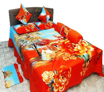Classical Pakiza Home Collection Cotton Bedsheet - 2006 (8pcs set)