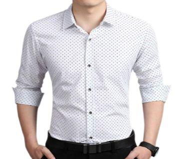 Coton Oxforrd Long Sleeve Formal Shirt For Men(white)