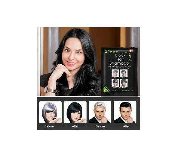 10Pcs Dexe Instant Hair Dye Black Hair Coloring Shampoo 25ml (China)