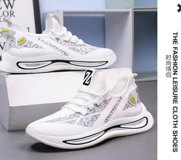 White Snikers Shoes for men