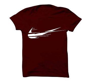 Cotton Round Neck T-shirt for Men 123