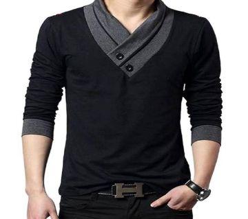 Full Sleeve T-Shirt for men-Black