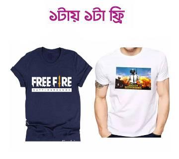 Free Fire Battleground Menz T shirt (Half Sleeve T-shirt for man Free)