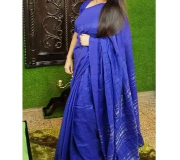 Soft Joom Cotton Monipuri Saree For Women- Blue