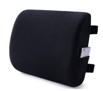 Memory Foam Lumbar Support Back Cushion , Back Pain Relief Pillow for office chair