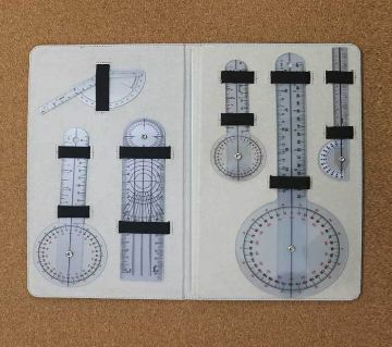 Goniometer Set  6 Pcs plastic ruler with lather case