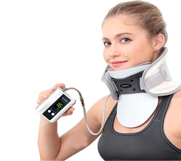Portable Cervical traction System Neck brace & air pump machine