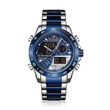 NAVIFORCE NF 9171 Analog Digital Dual Display Sport Watch for Men - Blue