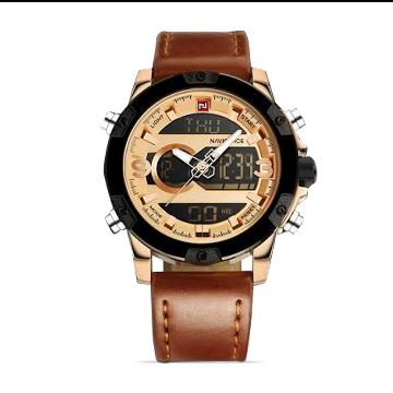 NaviForce NF9097 Digital Analog Dual Time Watch For Men