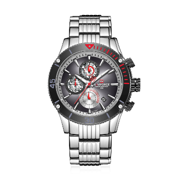 NAVIFORCE NF9173 Stainless Steel Chronograph Watch For Men - Grey & Silver