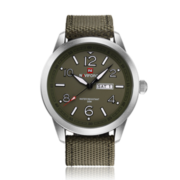 NAVIFORCE Canvas Watch for Men - Olive