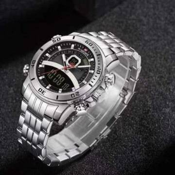Naviforce Stainless Steel Watch for Men - Silver