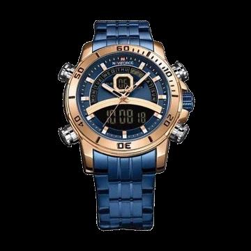 Naviforce Stainless Steel Watch for Men - Blue