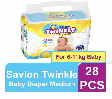 Twinkle Baby Diaper M (6-11 kg) - 28 pcs