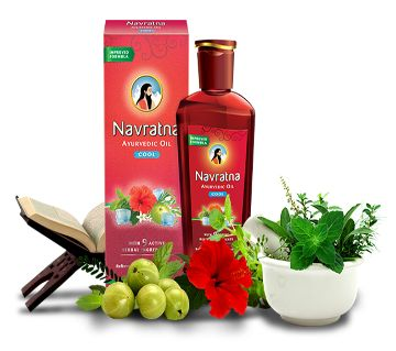 Navratna Cool Oil - Navratna Ayurvedic Oil For Skin-100ml India