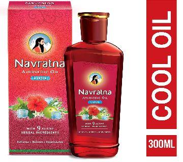 Navratna Ayurvedic Cool Hair Oil With-9 Harbal Ingredients (300ml) India