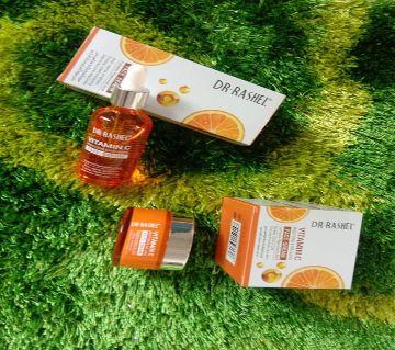 Dr.Rashel Vitamin C Face Wash Serum and Cream Combo 50ml,50ml,80ml Thailand