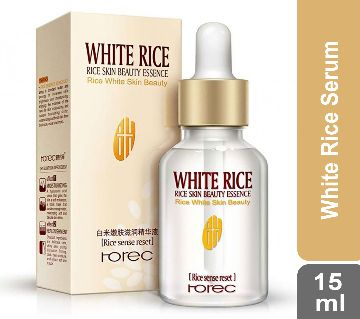 100%Authentic ROREC White Rice Serum Reduces Wrinkles and Lighten Dark Spots Pore Minimizer Anti- Aging Face Moisturizer Skin Lightening 30ml China