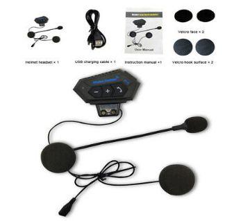 Motorcycle Helmet Bluetooth Wireless Intercom Earphone Headset Calling Music Player For Motorbike Rider
