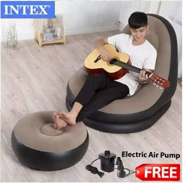 Inflatable Air Chair Sofa With Ottoman Air-footstool