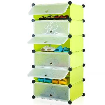Storage Cabinet 6 Layer DIY Rack Shoe Cabinet Shoe Rack Filing Cabinet Portable Storage Blocks